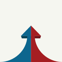 political arrows combining and pointing upward.