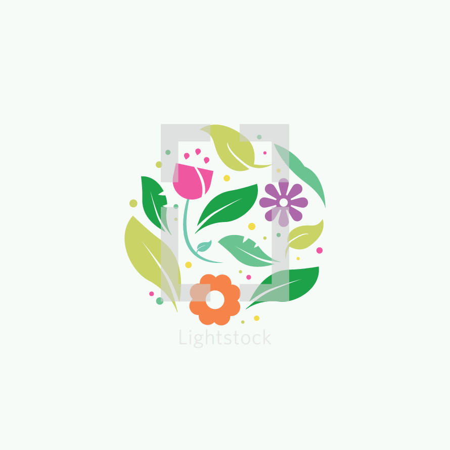 Spring Flowers Vector By Prixel Creative Lightstock