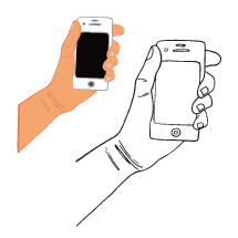drawing of a hand holding a cellphone