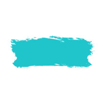 The teal turquoise paint brush stroke is drawn by hand. Paintbrush drawing on canvas. Hand-drawn brushstroke green blue texture on paper. Rectangle shape. The graphic element saved as a vector illustration in the EPS file format for used in your design projects.