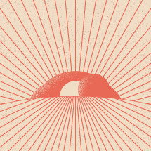 empty tomb illustration with radiating lines.