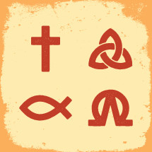 cross, Jesus fish, trinity, symbols, christianity