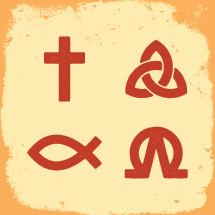 cross, Jesus fish, trinity, symbols, christianity