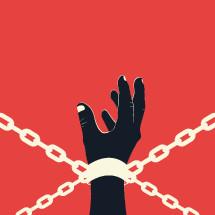 human trafficking concept.