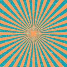 A blue and orange sunburst.
