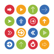 Vector pack of arrow icons.