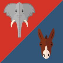 political party symbols illustration.