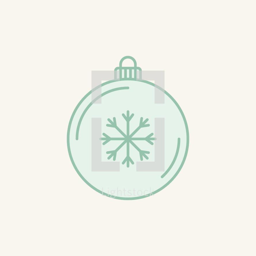 Christmas ornament with snowflake