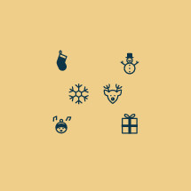 Christmas, caroling, gift, present, reindeer, deer, snowman, stocking, snowflake, icons