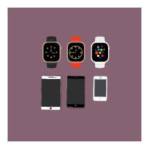 iphones, iwatch, cellphone, ipad, apple products, watches, time, icon