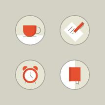 study icons.