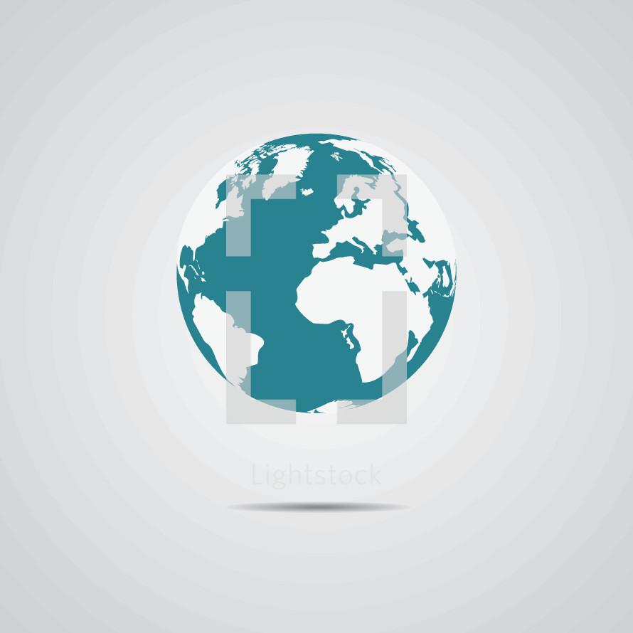 floating world globe illustration.