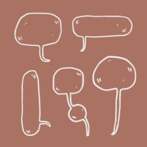 hand drawn word bubbles