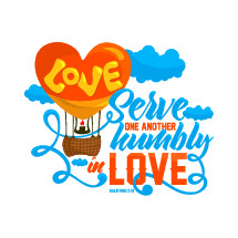 Love, serve one another humbly in love, Galatians 5:13