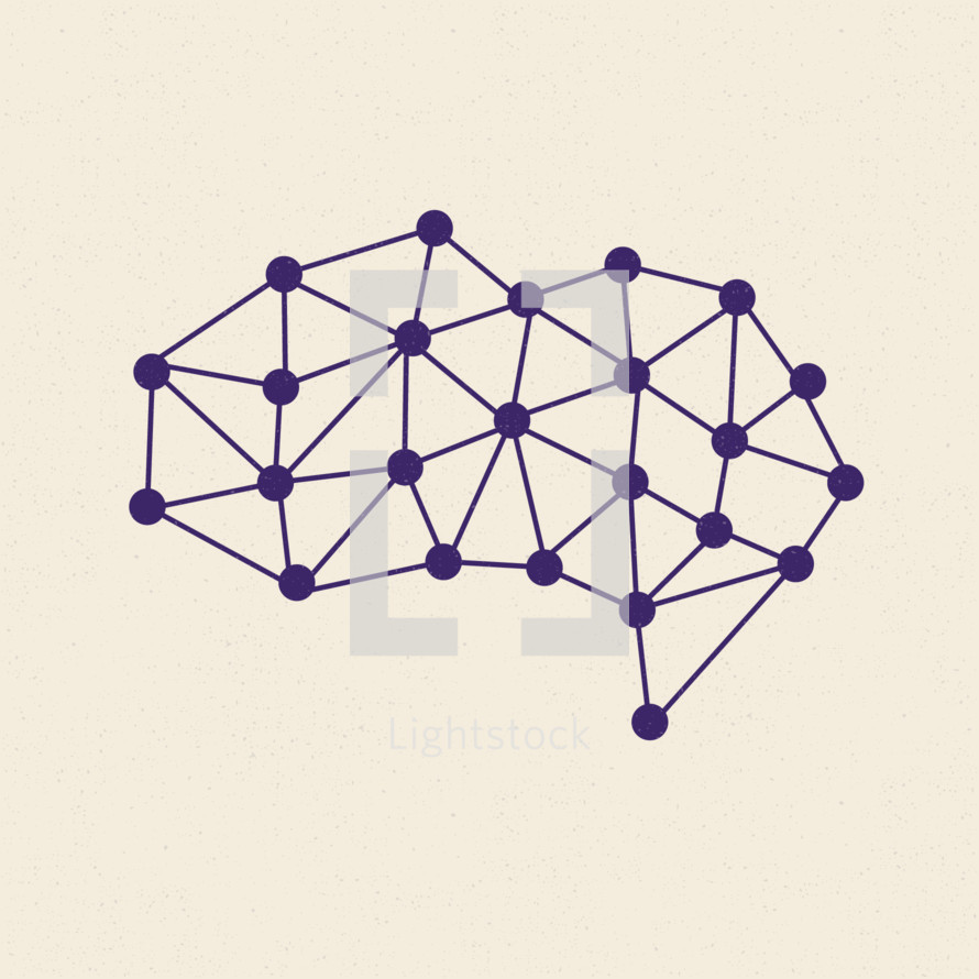 brain connected dots