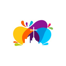 colorful city church logo