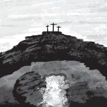 Calvary and empty tomb