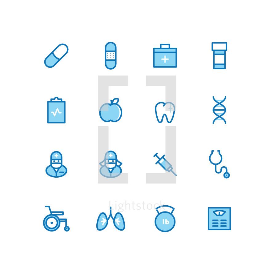 health icon set