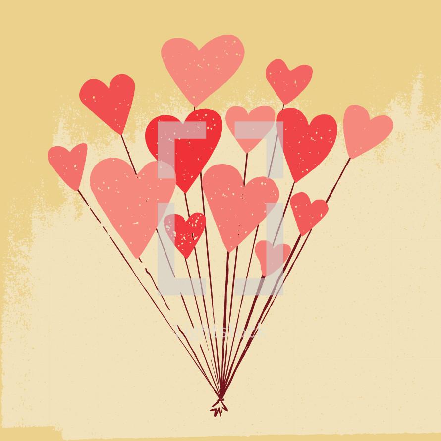 heart shaped helium balloons