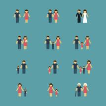 simple family icon set.