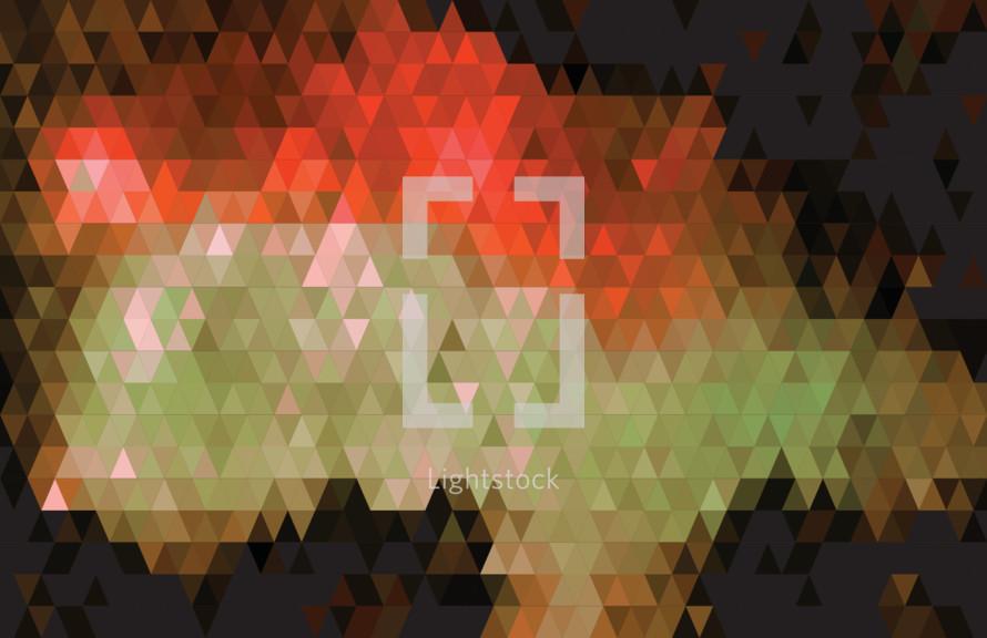 orange triangles background