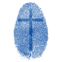 cross in a fingerprint
