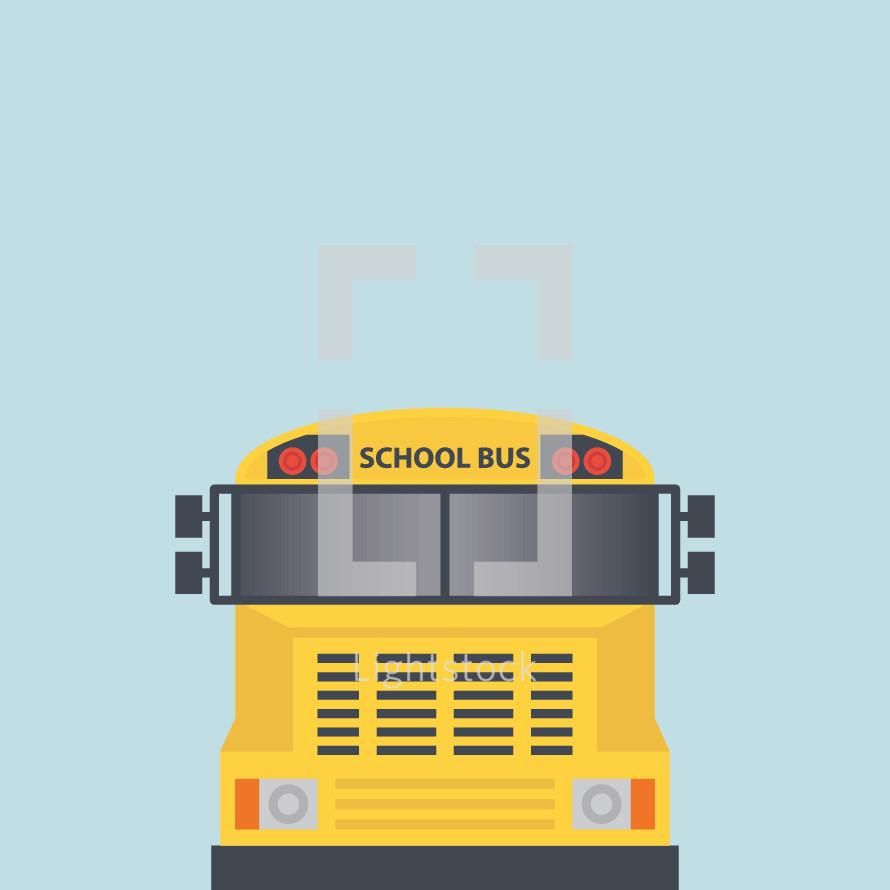 school bus illustration.