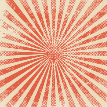 radiating sunburst background.