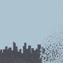 crumbling city.