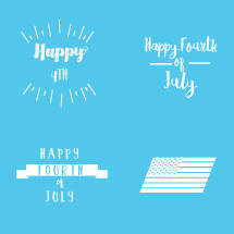 three Fourth of July Vectors