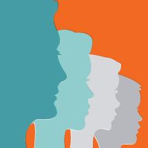 Modern family illustration.