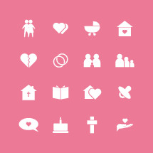 Set of family related icons.
