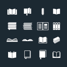 Books and Bibles icons set.