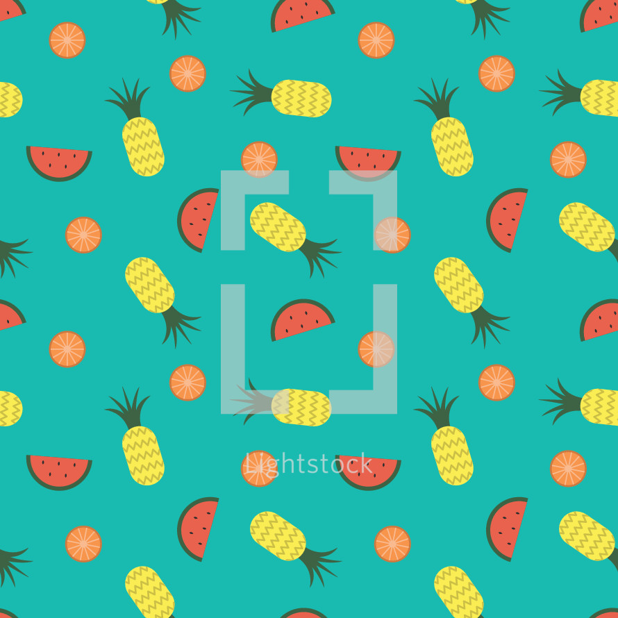 tropical fruit pattern.
