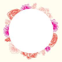 floral circle border