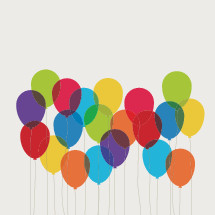 balloons on strings icons