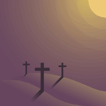 three easter crosses