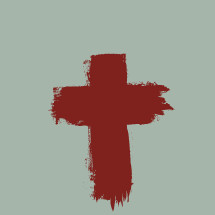 Painted cross in blood.