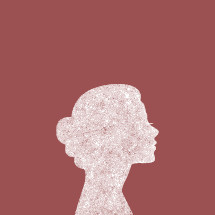 grunge woman side profile silhouette