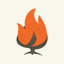 Burning bush illustration.