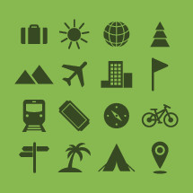 Set of travel icons.