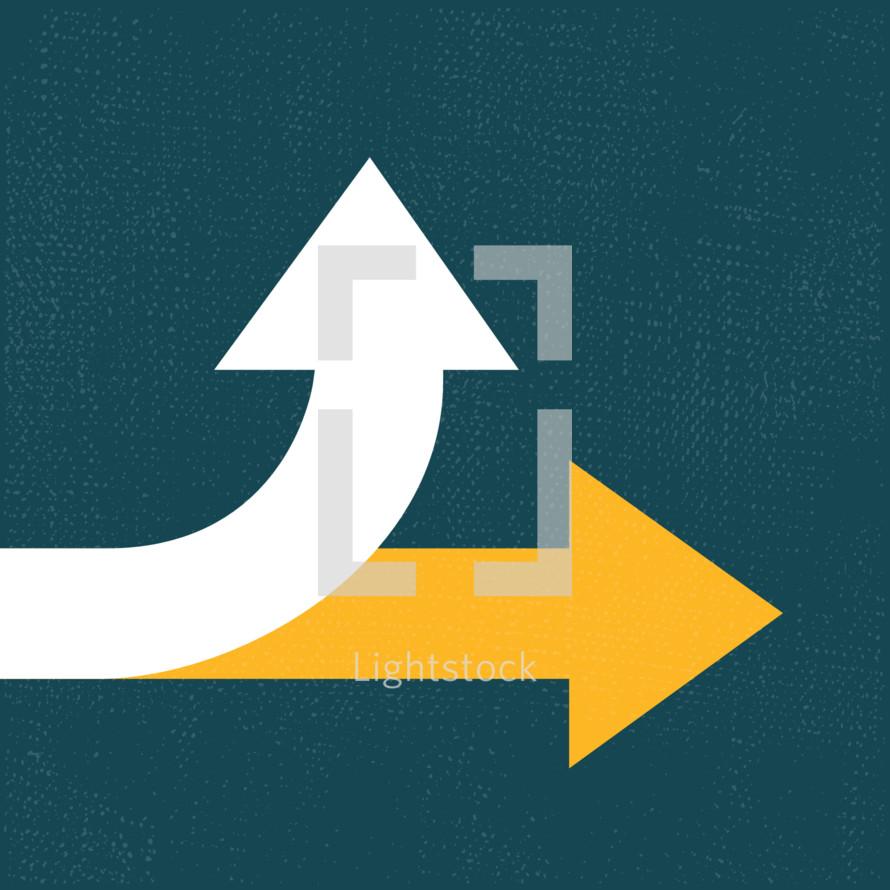 forward or up arrows