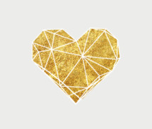 gold geometric heart