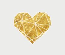 gold geometric heart