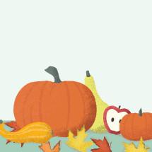 pumpkin and fall scene