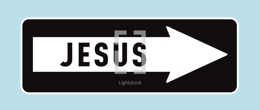 Jesus one way sign