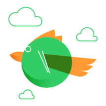 bird and clouds icon