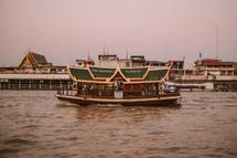 tourist boat in Thailand