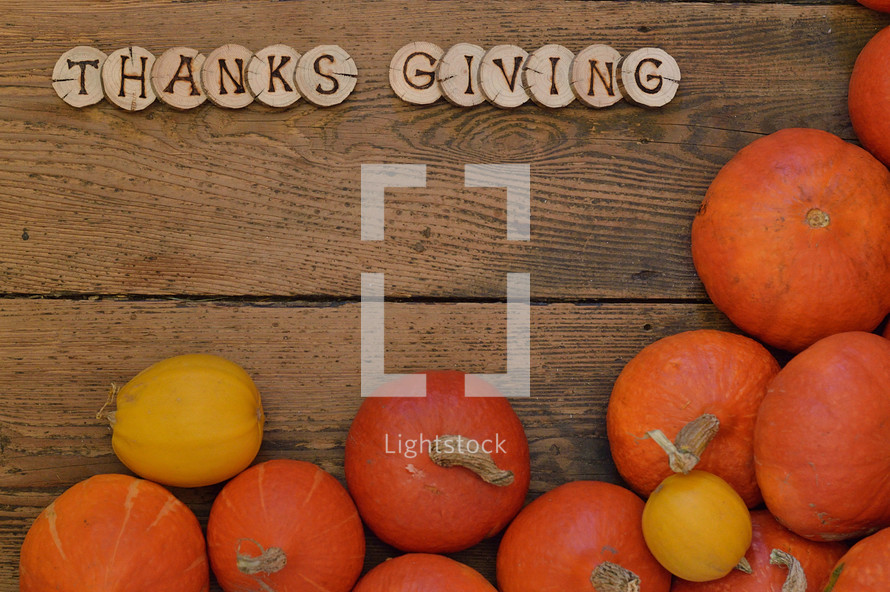 Thanks Giving and pumpkins