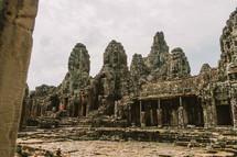 Temple ruins in Cambodia.